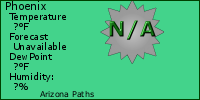 Arizona Paths Weather Button